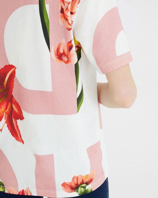 DESIGUAL 100 COTTON FLORAL PRINT T SHIRT6 522x652 Womens Clothing & Fashion