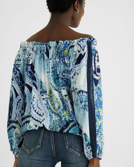 DESIGUAL BOAT NECK BLOUSE4 522x652 Womens Clothing & Fashion