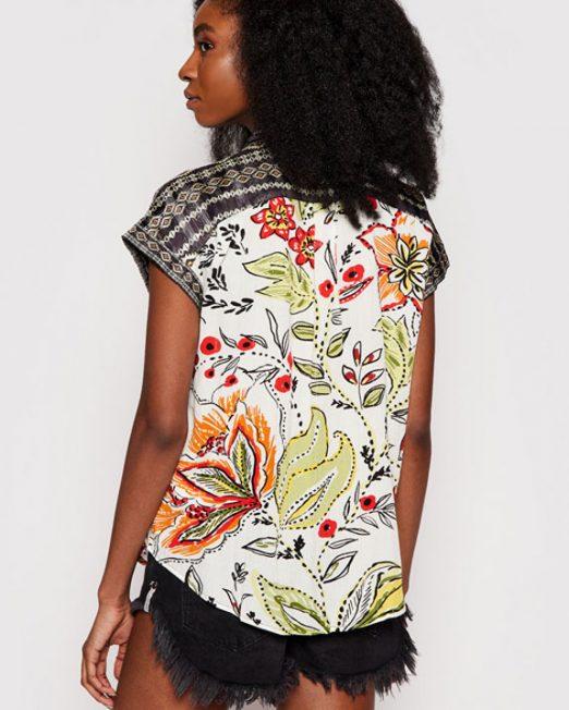 DESIGUAL COLORFUL PRINT SHIRT3 522x652 Womens Clothing & Fashion