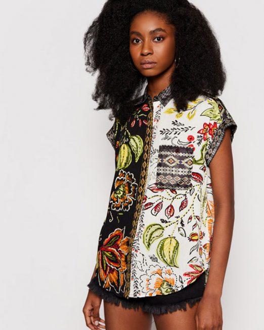 DESIGUAL COLORFUL PRINT SHIRT5 522x652 Womens Clothing & Fashion