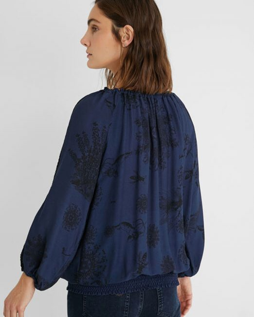 DESIGUAL COLOURED FLORAL PRINT BLOUSE20 522x652 Womens Clothing & Fashion
