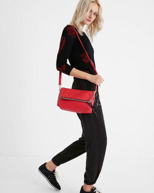 DESIGUAL EMBOSSED LOGO CROSSBODY BAG2 1 522x652 Womens Clothing & Fashion