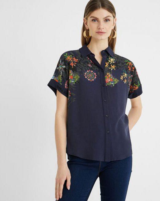 DESIGUAL FLORAL PRINT SHIRT 1 522x652 Womens Clothing & Fashion