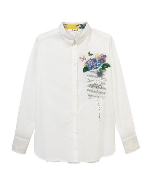 DESIGUAL FLORAL PRINT SHIRT 522x652 Womens Clothing & Fashion