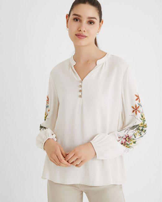 DESIGUAL FLORAL PRINT SHIRT5 522x652 Womens Clothing & Fashion