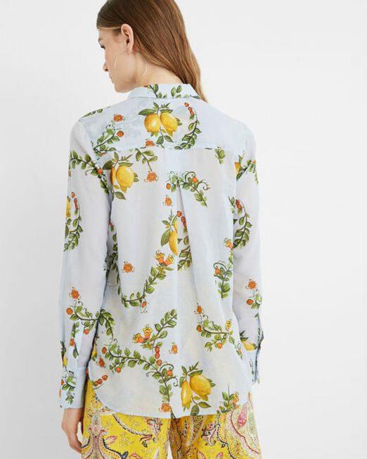 DESIGUAL LEMONS PRINT SHIRT4 522x652 Womens Clothing & Fashion