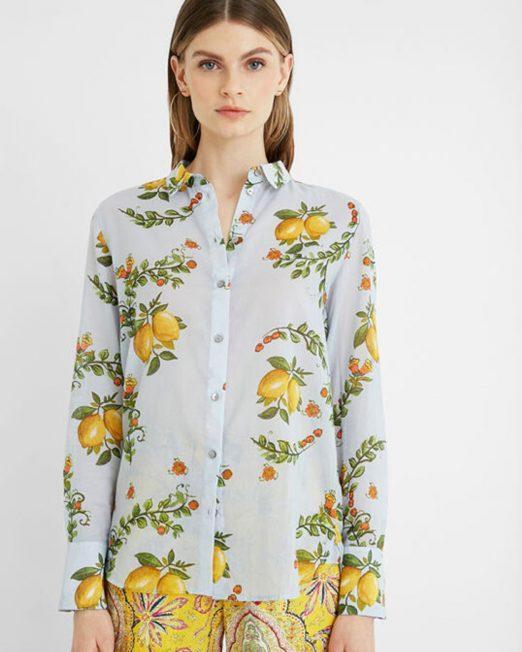 DESIGUAL LEMONS PRINT SHIRT8 522x652 Womens Clothing & Fashion
