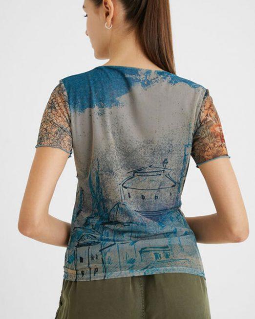 DESIGUAL PATCHWORK PRINT TEE4 522x652 Womens Clothing & Fashion