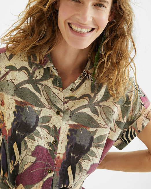 DESIGUAL SHORT SAFARI SHIRT DRESS5 Womens Clothing & Fashion