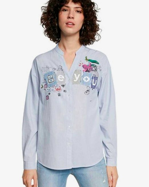 DESIGUAL STRIPE LONG SLEEVE SHIRT 522x652 Womens Clothing & Fashion