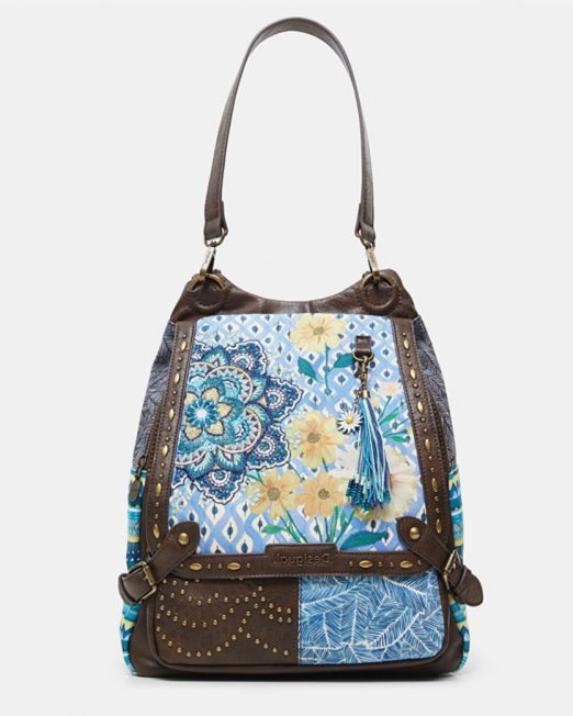 DESIGUAL STUDS FLORAL FABRIC PATCHWORK BACKPACK2 522x652 Womens Clothing & Fashion