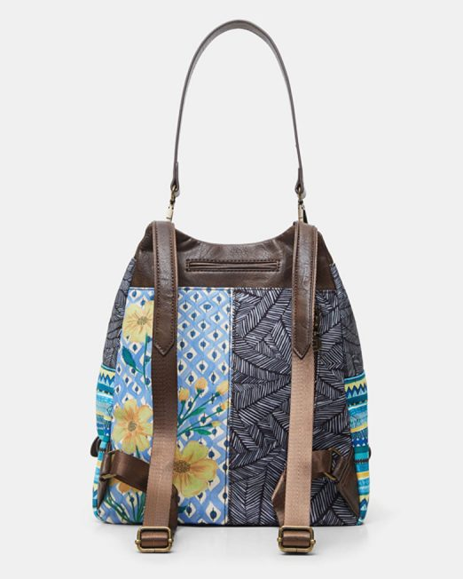DESIGUAL STUDS FLORAL FABRIC PATCHWORK BACKPACK4 522x652 Womens Clothing & Fashion