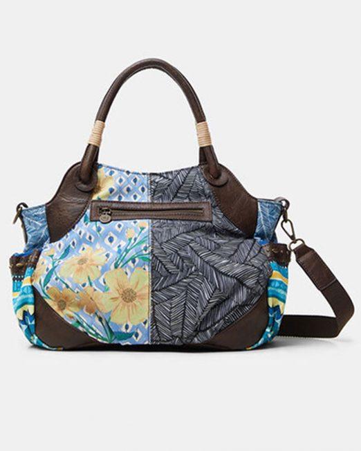 DESIGUAL STUDS FLORAL FABRIC PATCHWORK SHOULDER BAG4 1 522x652 Womens Clothing & Fashion