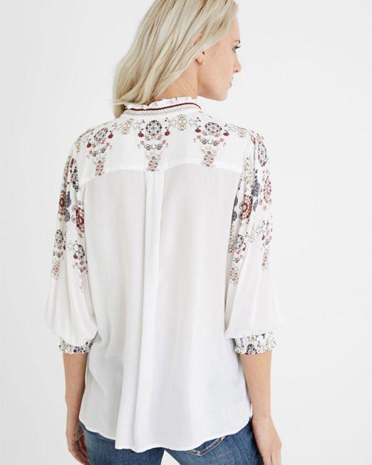 DESIGUAL V NECK GATHERED BLOUSE5 522x652 Womens Clothing & Fashion