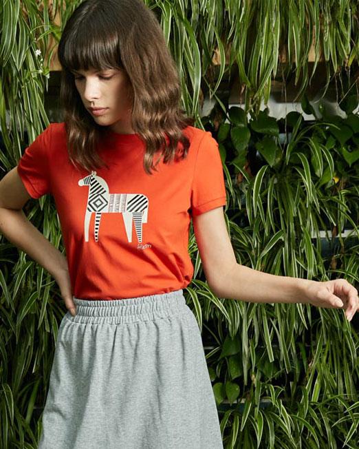 MELANI DI MODA HORSE PRINT TOP7 Womens Clothing & Fashion
