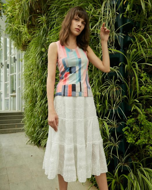 PASSION 1 BY MELANI COLOURFUL GEOMETRIC PRINT VEST 522x652 Womens Clothing & Fashion