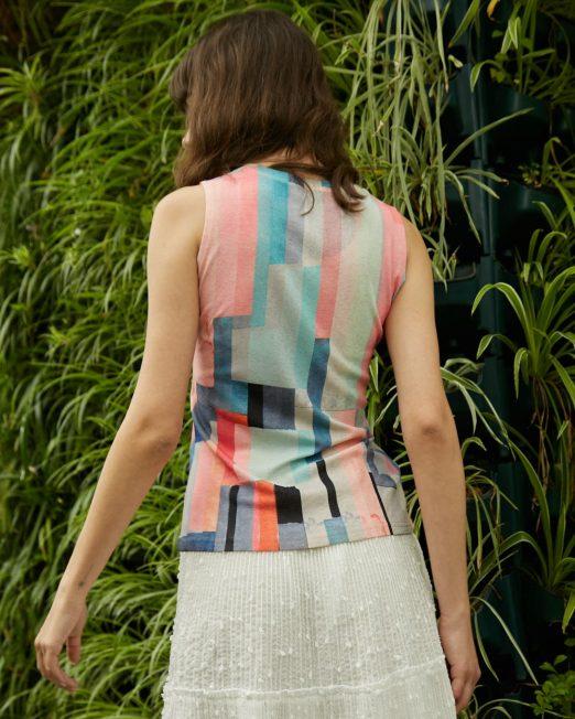PASSION 1 BY MELANI COLOURFUL GEOMETRIC PRINT VEST2 522x652 Womens Clothing & Fashion