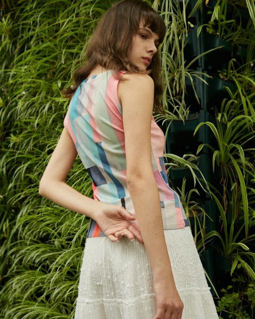 PASSION 1 BY MELANI COLOURFUL GEOMETRIC PRINT VEST3 522x652 Womens Clothing & Fashion