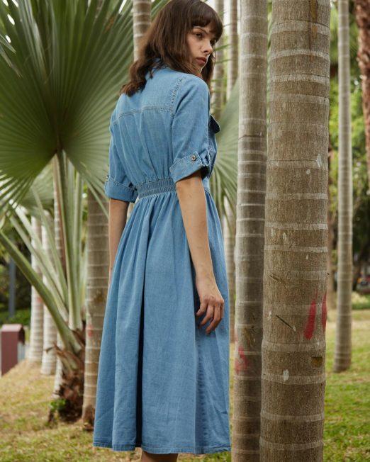 PASSION 1 BY MELANI SHORT SLEEVES DENIM DRESS 522x652 Womens Clothing & Fashion