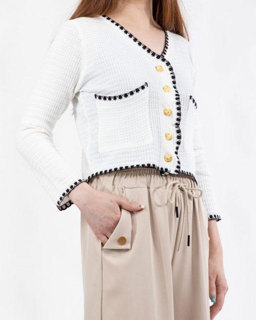 MELANI CONTRAST STITCHING CARDIGAN4 522x652 Womens Clothing & Fashion