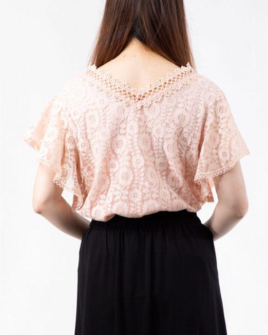 MELANI V NECK LACE TOP7 522x652 Womens Clothing & Fashion