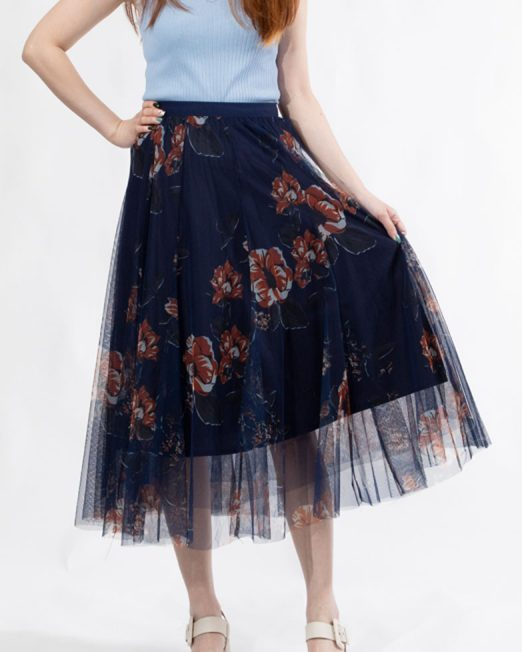 Melani Floral Tulle Skirt4 522x652 Womens Clothing & Fashion