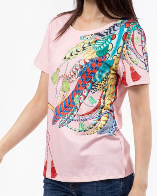 PASSION 1 BY MELANI FEATHER PRINT TOP2 522x652 Womens Clothing & Fashion
