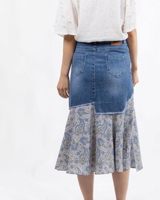 PASSION 1 BY MELANI FLORAL PRINT PATCH DENIM SKIRT 4 522x652 Womens Clothing & Fashion