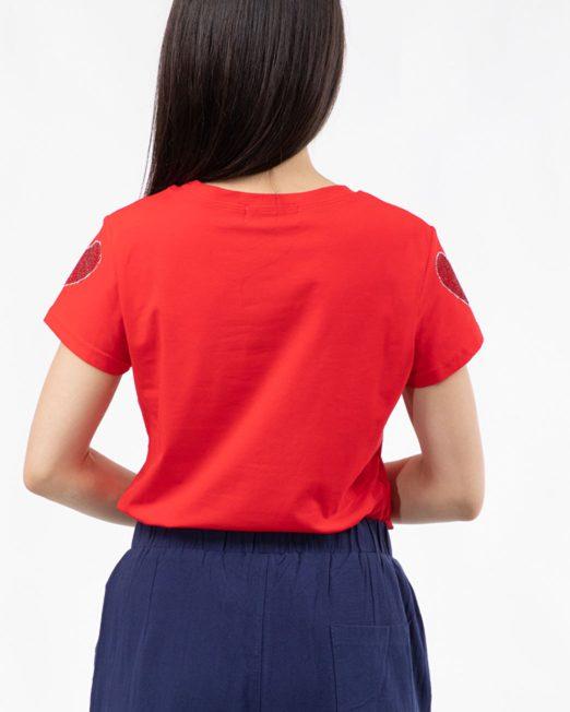 PASSION 1 BY MELANI HEART RHINESTONE PRINT TOP2 522x652 Womens Clothing & Fashion