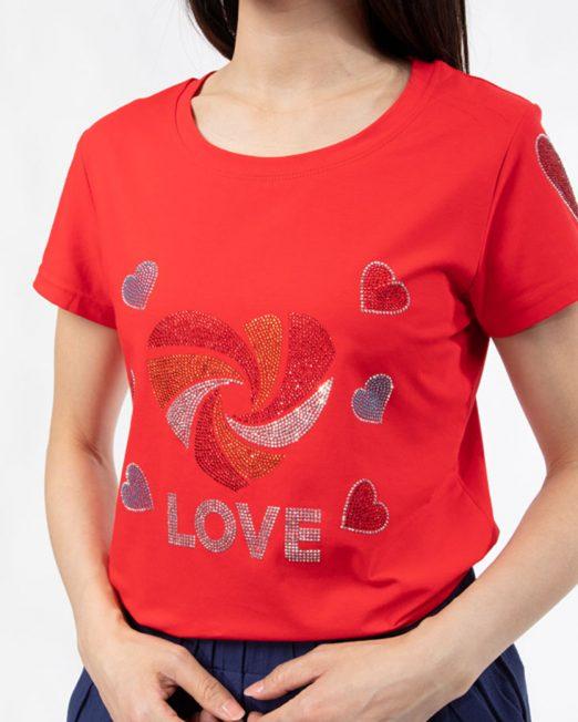 PASSION 1 BY MELANI HEART RHINESTONE PRINT TOP4 522x652 Womens Clothing & Fashion