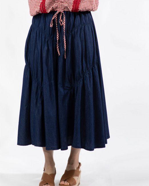 PASSION 1 BY MELANI PLEATED MIDI DENIM SKIRT 1 522x652 Womens Clothing & Fashion