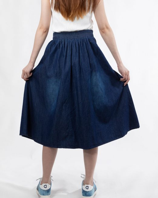 PASSION 1 BY MELANI PLEATED MIDI DENIM SKIRT 522x652 Womens Clothing & Fashion