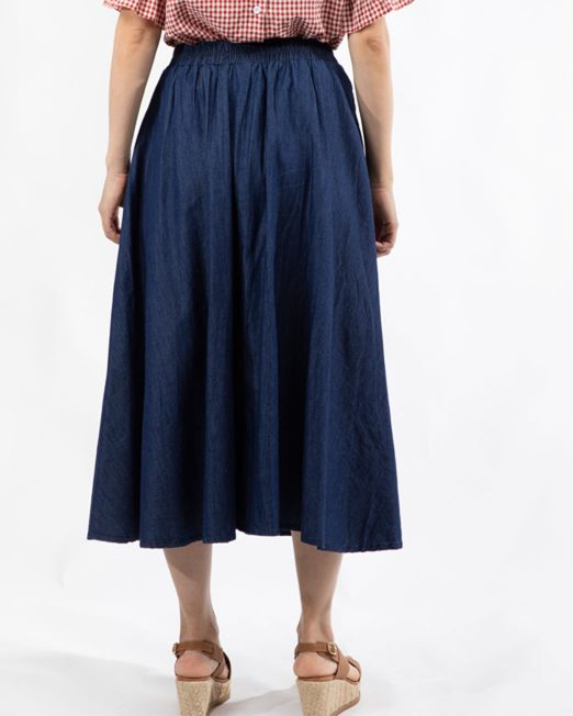 PASSION 1 BY MELANI PLEATED MIDI DENIM SKIRT4 522x652 Womens Clothing & Fashion