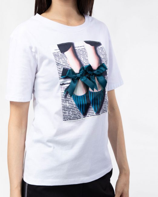 PASSION BY MELANI BALLET SHOES PRINT TOP 1 522x652 Womens Clothing & Fashion