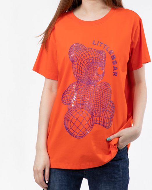 PASSION BY MELANI BEAR RHINESTONE PRINT TOP2 522x652 Womens Clothing & Fashion