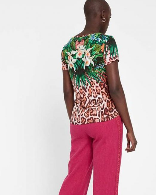 DESIGUAL FLORAL AND LEOPARD PRINT TOP 1 522x652 Womens Clothing & Fashion