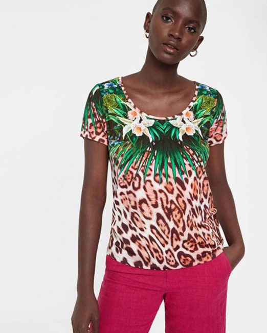 DESIGUAL FLORAL AND LEOPARD PRINT TOP 4 522x652 Womens Clothing & Fashion