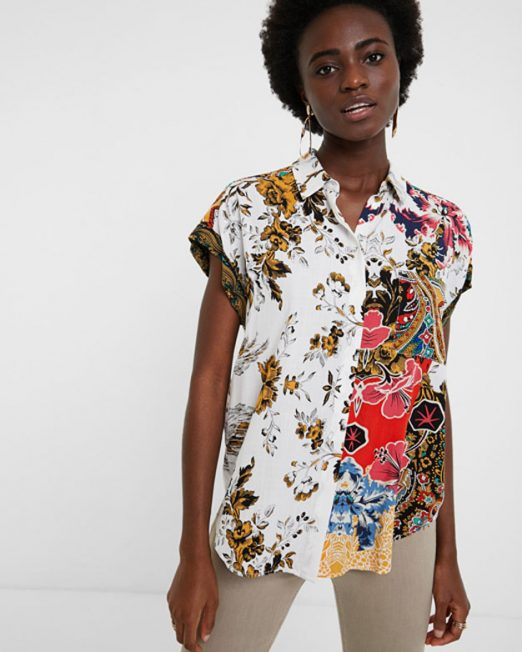 DESIGUAL FLORAL PRINT BLOUSE 6 522x652 Womens Clothing & Fashion