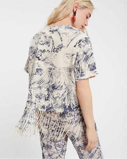 DESIGUAL FRINGE DETAIL TOP 3 522x652 Womens Clothing & Fashion