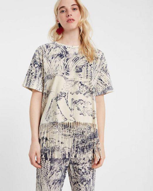 DESIGUAL FRINGE DETAIL TOP 522x652 Womens Clothing & Fashion