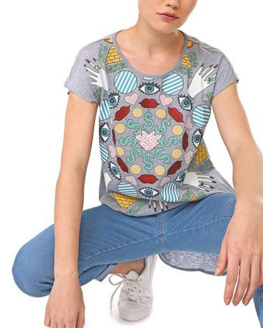 DESIGUAL FUNNY PRINT TOP 3 522x652 Womens Clothing & Fashion