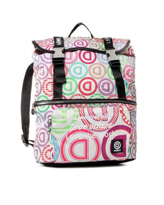 DESIGUAL LOGO PRINT BACKPACK 3 522x652 Womens Clothing & Fashion