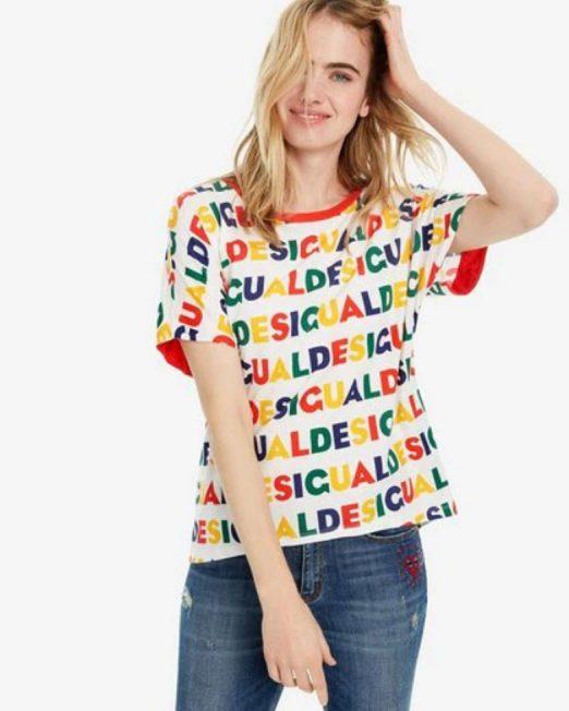 DESIGUAL LOGO PRINT TOP 4 522x652 Womens Clothing & Fashion