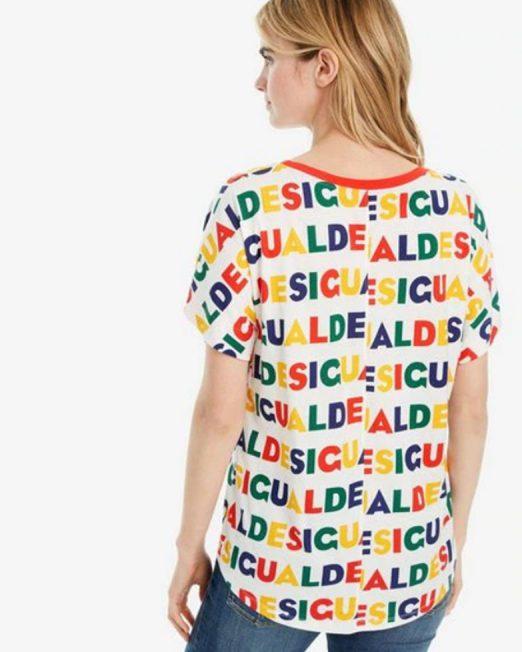 DESIGUAL LOGO PRINT TOP 522x652 Womens Clothing & Fashion