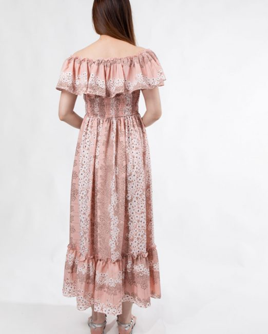MELANI FLORAL PRINT OFF SHOULDER DRESS 5 522x652 Womens Clothing & Fashion