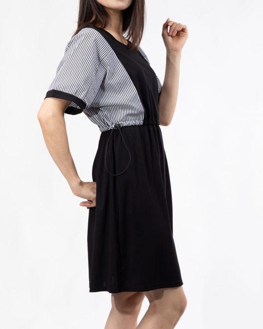 MELANI STRIPE PANEL DRESS 1 522x652 Womens Clothing & Fashion
