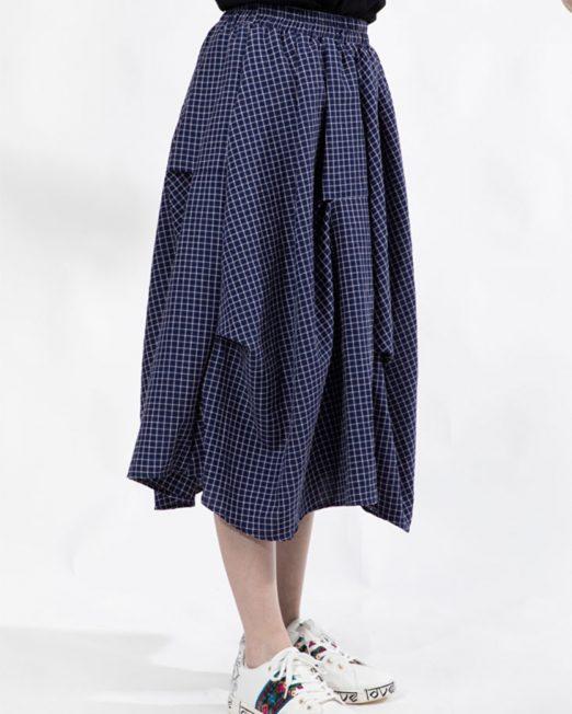 PASSION 1 BY MELANI CHECK PRINT MEDI SKIRT 1 522x652 Womens Clothing & Fashion