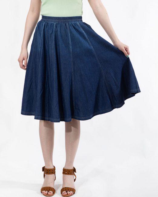 PASSION 1 BY MELANI DENIM SKIRT IN MID WASH 522x652 Womens Clothing & Fashion
