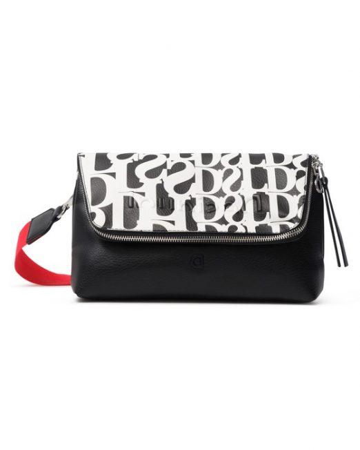 desigual bag black and white 522x652 Womens Clothing & Fashion