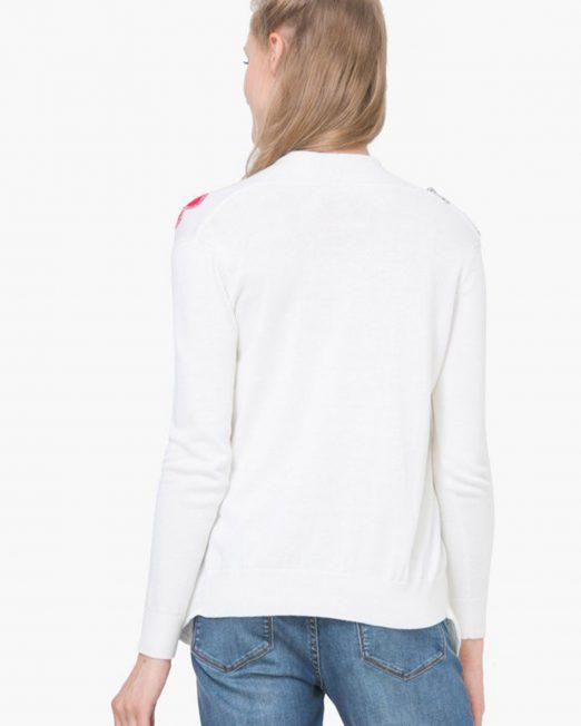 DESIGUAL FLORAL PRINT KNIT CARDIGAN 1 522x652 Womens Clothing & Fashion